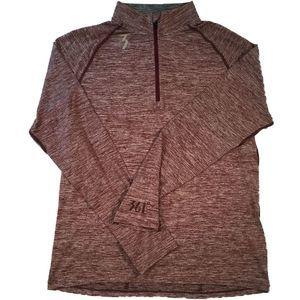 361 Degree Sports Thermal Half- Zip Shirt Med NWT